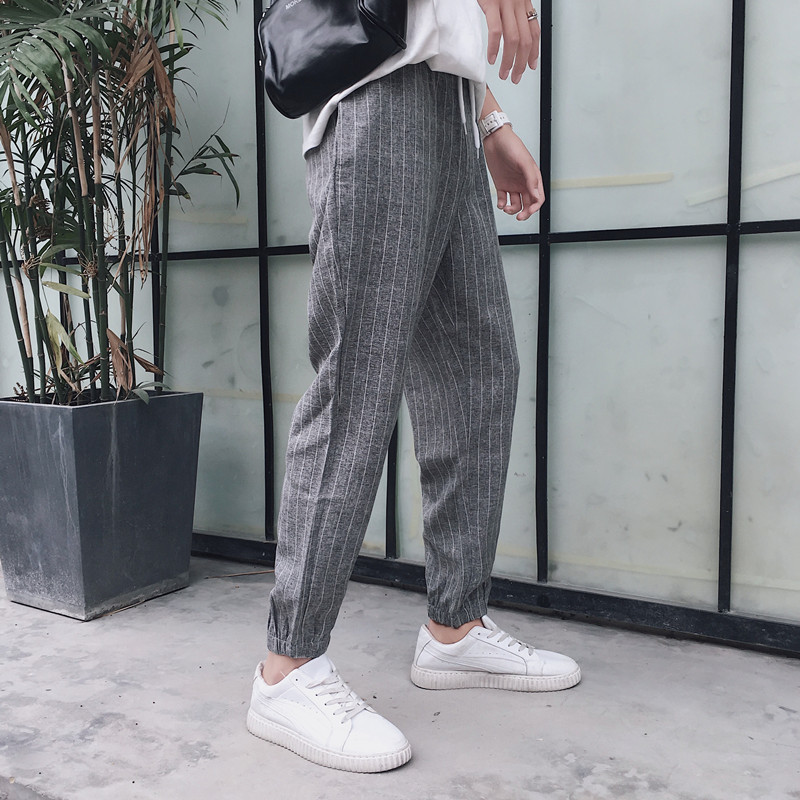 New Pattern The Wind In Hong Easy Fashion Stripe Leisure Time Pants Price Control Favourite Recommend Free shipping casual