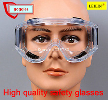 Free shipping Impact resistant polycarbonate protective glasses safety goggles Dust storm cycling dustproof glasses work