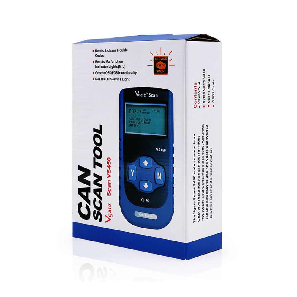 Vgate VS450 for vag Code reader diagnostic scanner reset Airbag ABS VS450  for Audi for VW OBD2 OBDII tool better than obd ELM327