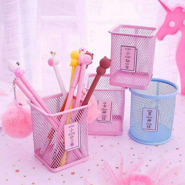 1 Uds. Sailor kawaii Moon Cat caja de almacenamiento de papelería de Metal rosa caja de administración doméstica lápiz titular de la pluma soporte estudiante papelería