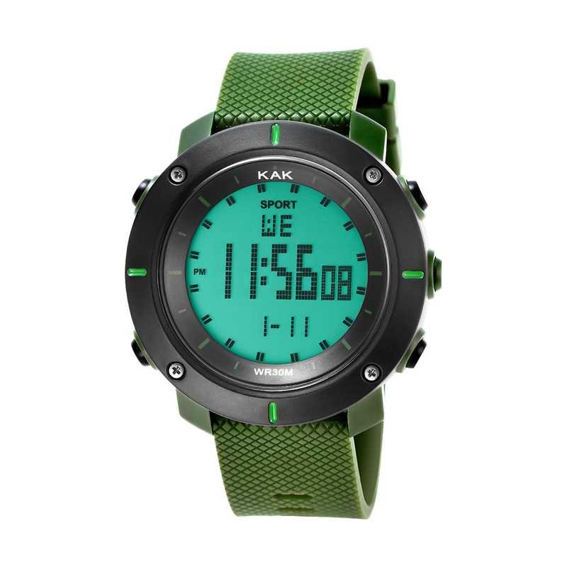 קאק גברים ספורט צלילה שעון 30 מטר מוצרים אלקטרוניים Led צבאי שעון נשים אופנה מקרית שעונים