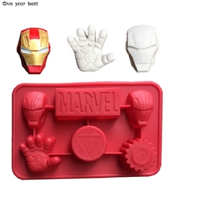 cake decorating tools iron Man icons silicone cake mold The Avengers Super Hero nonstick cake Chocolate moulds silicone mold(China)