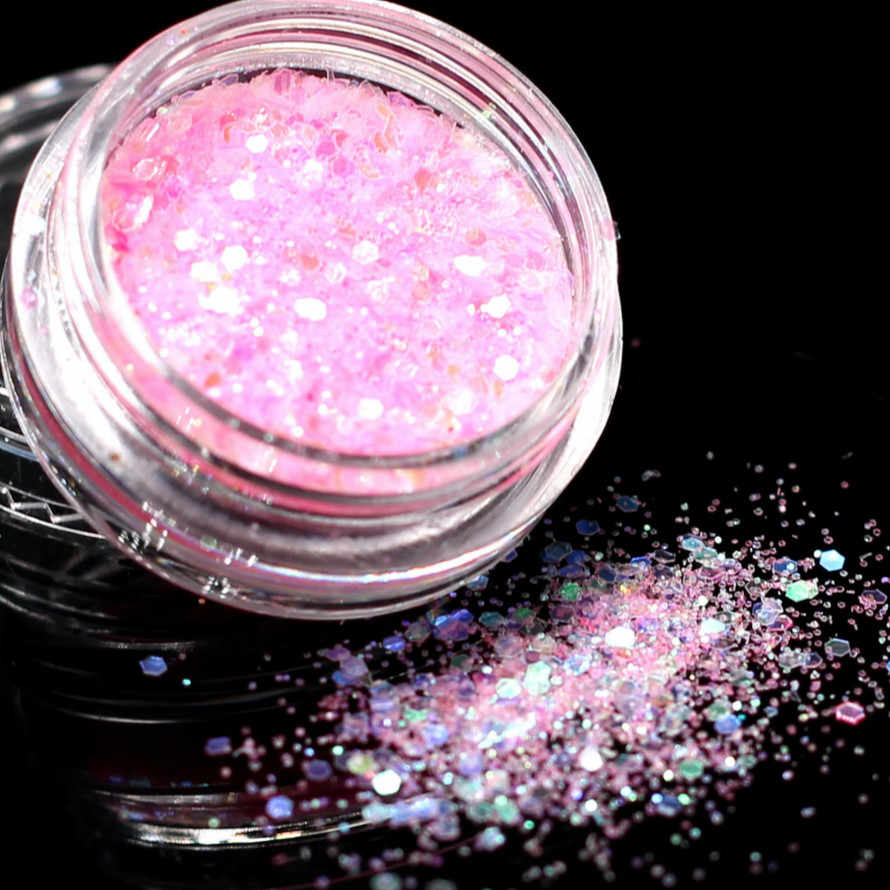 1 Box Violet Glitter Eyeshadow 12 di Colore di Scintillio Occhi Tavolozze In Bianco E Nero Occhi Shimmer Powder Attrezzo di Trucco Degli Occhi Shinning #12