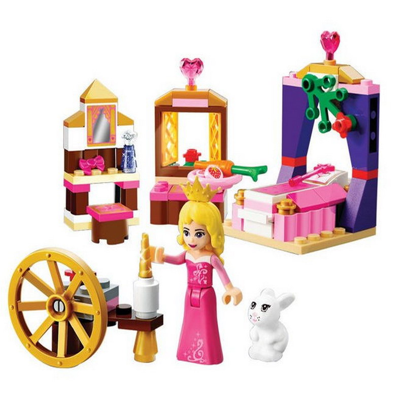 10433 BELA Princess Sleeping Beauty's Royal Bedro Model Building Blocks Enlighten DIY Figure Toys For Children Compatible Legoe decool 3117 city creator 3 in 1 vacation getaways model building blocks enlighten diy figure toys for children compatible legoe
