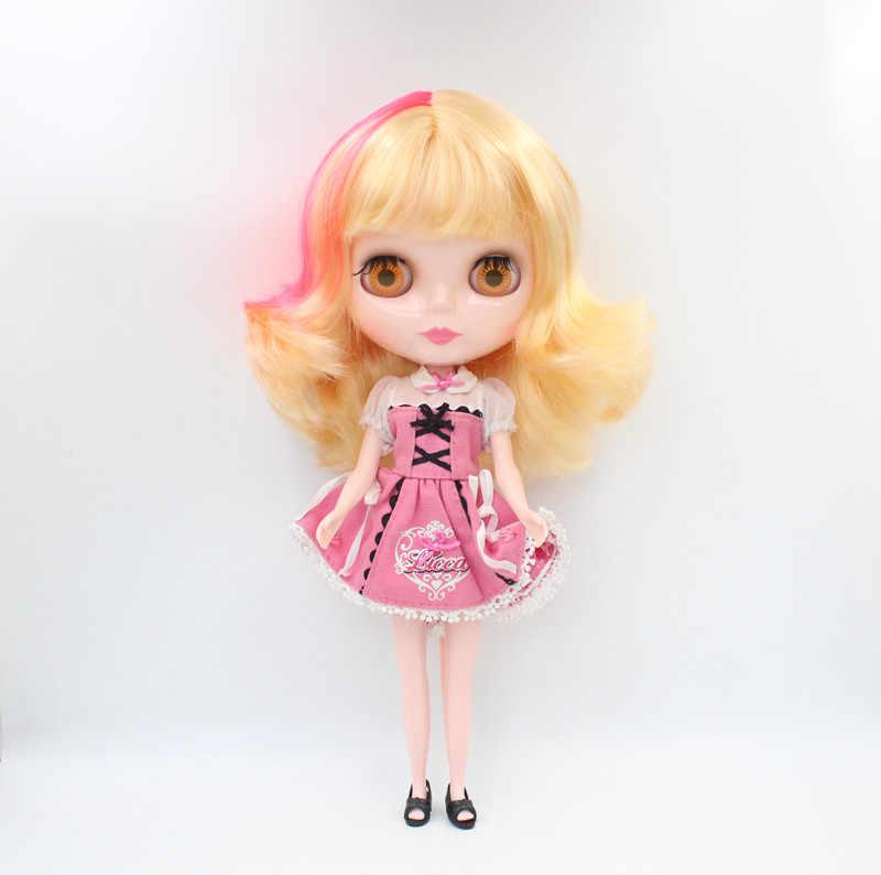O Envio gratuito de big desconto RBL-600 DIY Nude Blyth 4 cor dos olhos grandes boneca de presente de aniversário da boneca para a menina com a bela cabelo bonito brinquedo