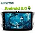 Navitop 1024*600 android 6.0 reproductor de dvd del coche gps 2 din en el tablero para volkswagen golf 4 5 6 polo passat coche dvd gps de navegación