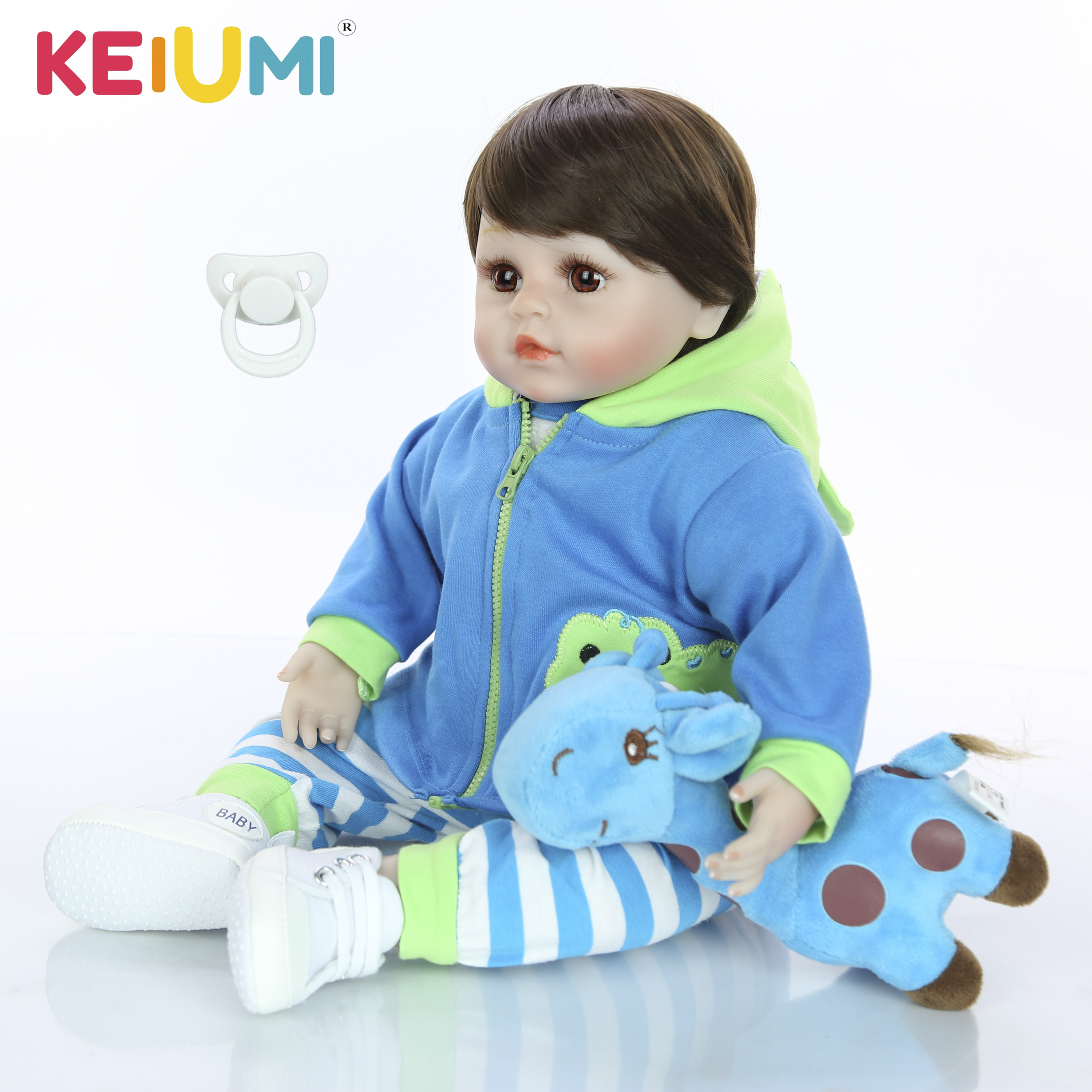 Doll Toy Christmas-Gift Silicone Reborn Newborn-Baby 18inch Playmates KEIUMI Realistic