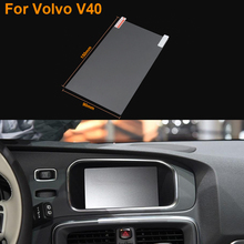 Car Styling 7 Inch GPS Navigation Screen Steel Protective Film For Volvo V40 Control of LCD Screen Car Sticker
