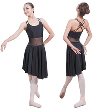 Women Kid Backlessblack black Dancewear Ballet Dancing Costume Girl Practice Dance Clothes Ballet Physical Training Wear 2017