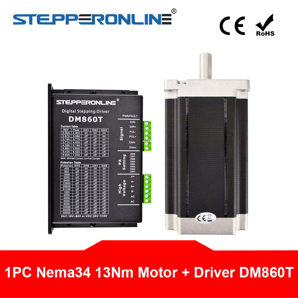 US Ship 1 Axis CNC Kit 1805oz.in Nema 34 Stepper Motor /& Driver CNC Mill Router