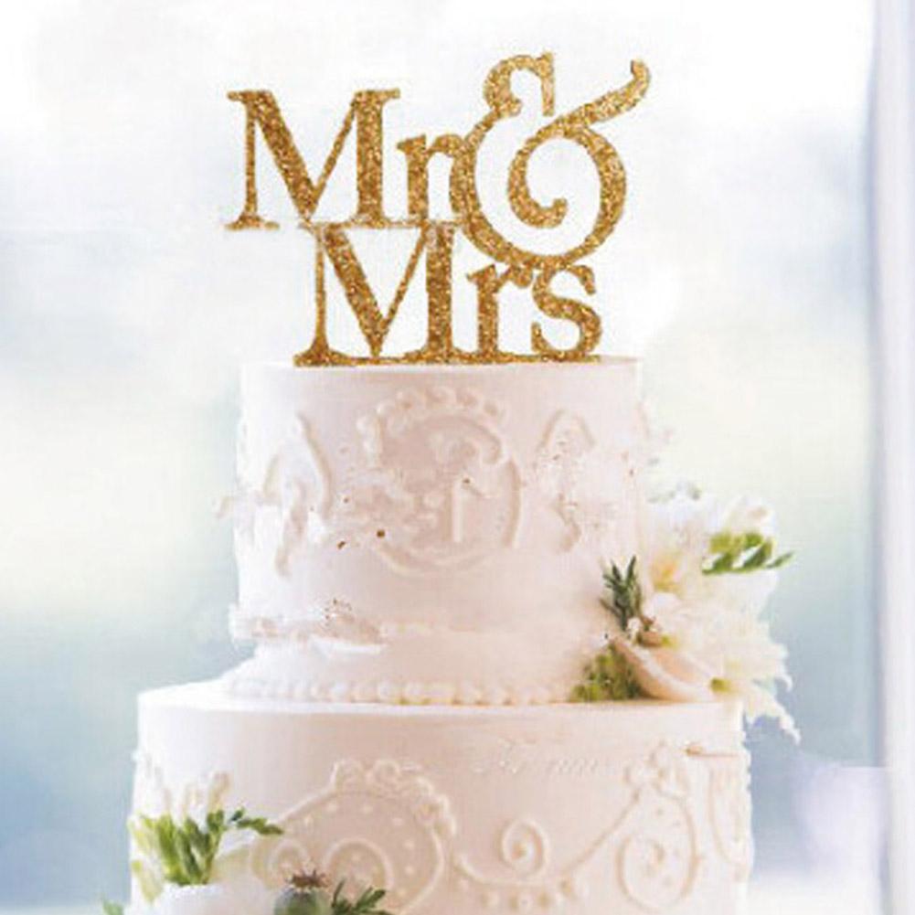 nueva mr u mrs boda decoracin de la torta de acrlico romntica novia novio accesorios de