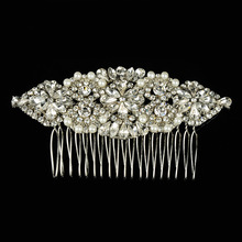 2016 Top Quality Wedding Hair Accessories Bride Rhinestone Crystals Flower Hair Comb Hairpin Hair Jewelry Bridal Tiara Headpiece