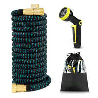 High Quality 25 75FT Expandable Garden Hose Magic Hose High Pressure Car Wash Hose With Nozzle Set For Garden Outdoor Products