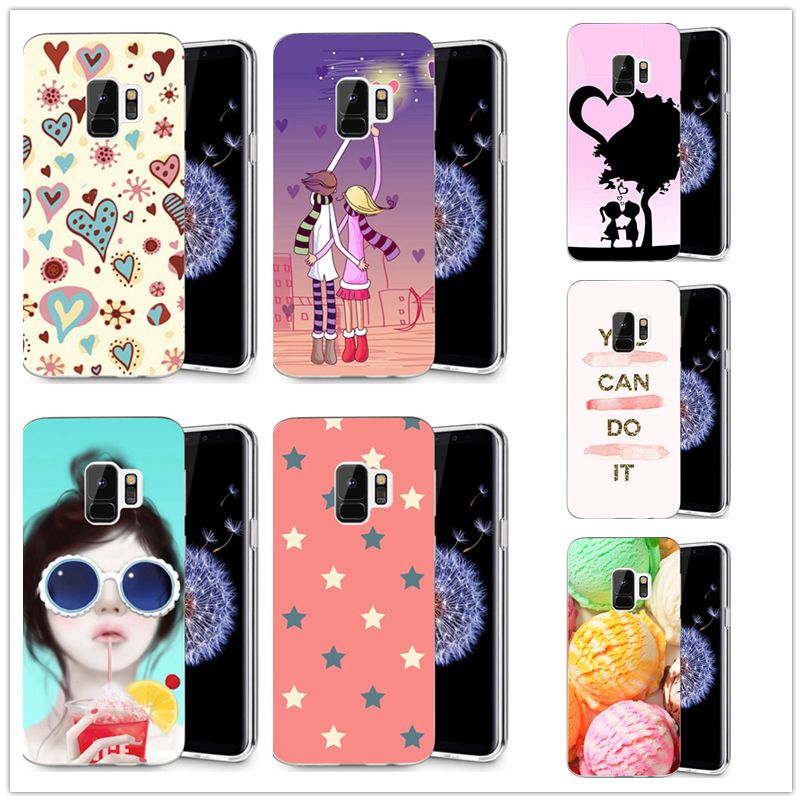 For Samsung Galaxy S3 S9 S9Plus S8 S8 Plus S7 S7 edge Note 8 happy lovers pattern Cream Painted Cute Soft Back TPU Case R018