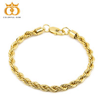 Hip hop Mens Bracelet Bangle Silver Gold Color Bling plating Rope Chain Iron Iced Out Jewelry 6mm*9inch
