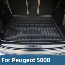Cargo Liner Rear Tray Trunk Floor Mat Waterproof Protector For Peugeot 5008 2016-2019