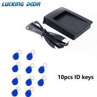 Lucking porta frete grátis 125 khz rfid leitor usb sensor de proximidade leitor cartão inteligente em4100 tk4100 para controle acesso|Leitores de cartão de controle| |  -