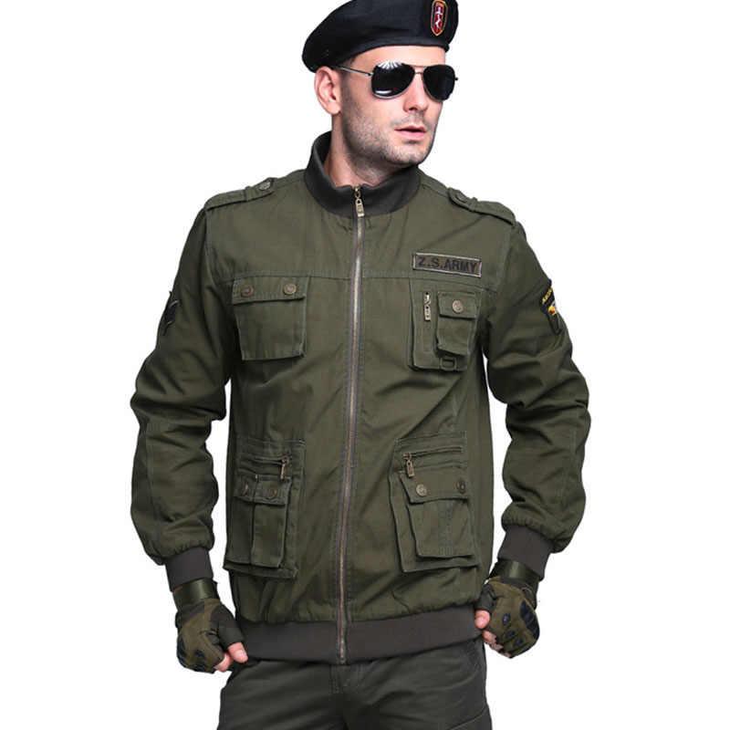 Новая мужская куртка в стиле милитари, дизайнерская, модная, мужская, с несколькими карманами, хлопковая, плюс размер, повседневная куртка, пальто, Мужская брендовая одежда AF15101