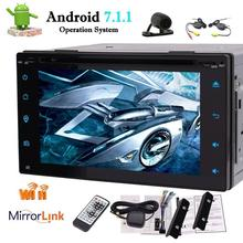 """Android 7.1 Octa Core Double Din Car Stereo Radio Bluetooth GPS Navigation DVD Player 6.2"""" Wifi Mirrorlink,Wireless Back Camera"""