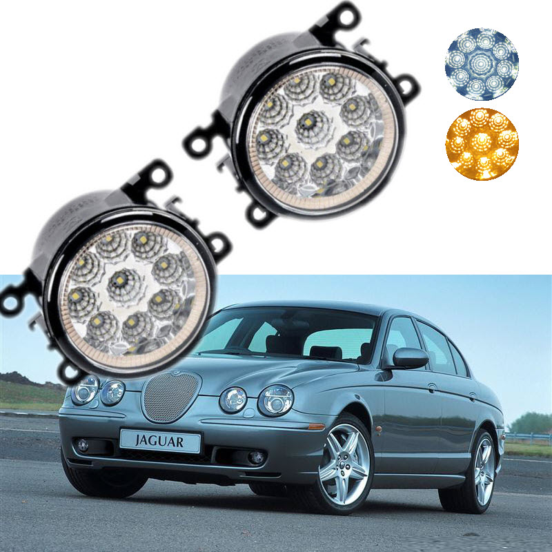 Car-styling For Jaguar S-type CCX 1999-2009 9-Pieces Leds Chips LED Fog Light Lamp H11 H8 12V 55W Halogen Fog Lights for jaguar s type 1999 2008 led lamps fog light lights car styling 1 set