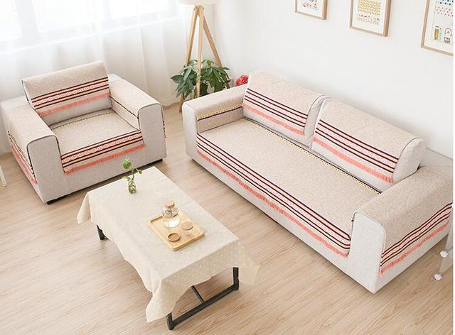 70cm Cotton Sofa Towel Sectinal Sofa Cover Slip Resistant Single Seat  Double Seat Three
