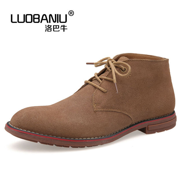 Us6 11 Men Cow Suede Leather Lace Up Shoes Casual Oxfords Pointed