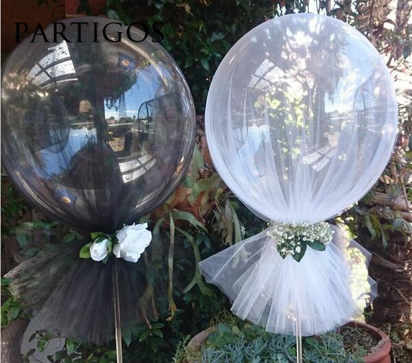 1pc Large Round Jumbo 36 inch Clear Latex Balloons Baby Shower Wedding Birthday Anniversary Party Decor Helium Inflatable Globos