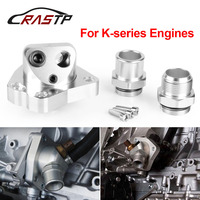 RASTP Engine Radiator Fit for K20 K24 Car Engine Cooling Components Swivel Neck Thermostat Housings K Series RS OSA010