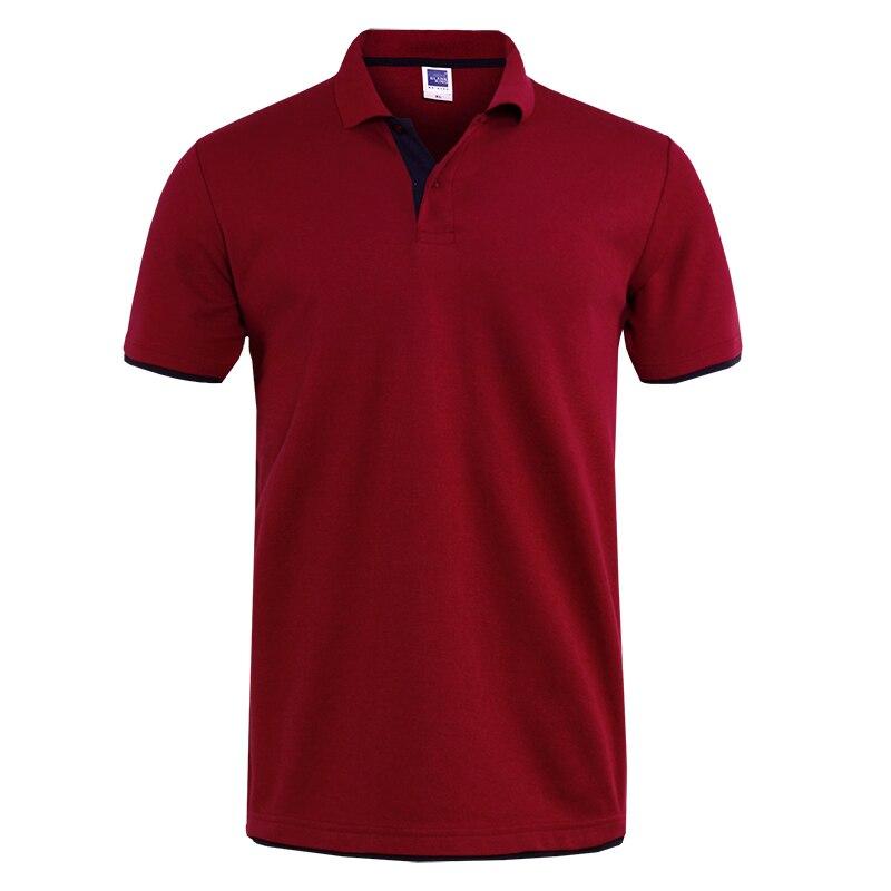 Mens Polo Shirt Brands Clothing short Sleeve Summer Shirt Man Black Cotton Polo Shirt Men Plus Size Polo Shirts 29