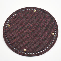 19 см круглая Нижняя для вязания сумки нижняя с отверстиями плетеная из искусственной кожи Аксессуары для сумки на плечо ручной работы DIY