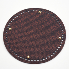 19cm Circle Bottom for Knitting Bag Bottom with Holes Braided PU Leather Accessories for Shoulder Bag Handmade DIY Part KZBT024
