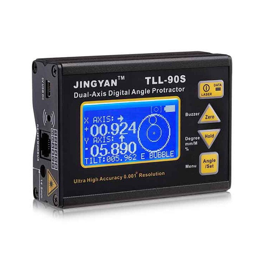 TLL-90S Super laser niveau LCD Affichage Angle Mètre 0.005 Professionnel Double-axe Numérique Laser Niveau Inclinomètre