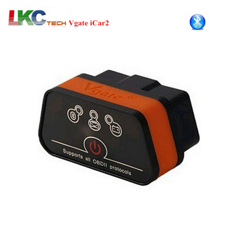 A+Quality Vgate iCar2 Bluetooth OBDII ELM327 Bluetooth iCar2 Vgate OBD Car Diagnostic Scan Tool For Android With Retail Box