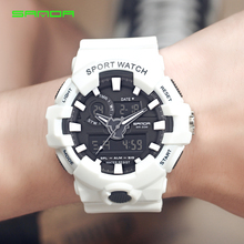 SANDA Mode G Stijl LED Digitale Horloge Mannen Analoge Quartz Horloges Heren Waterdichte Sport Horloges mannen Klok erkek kol saati