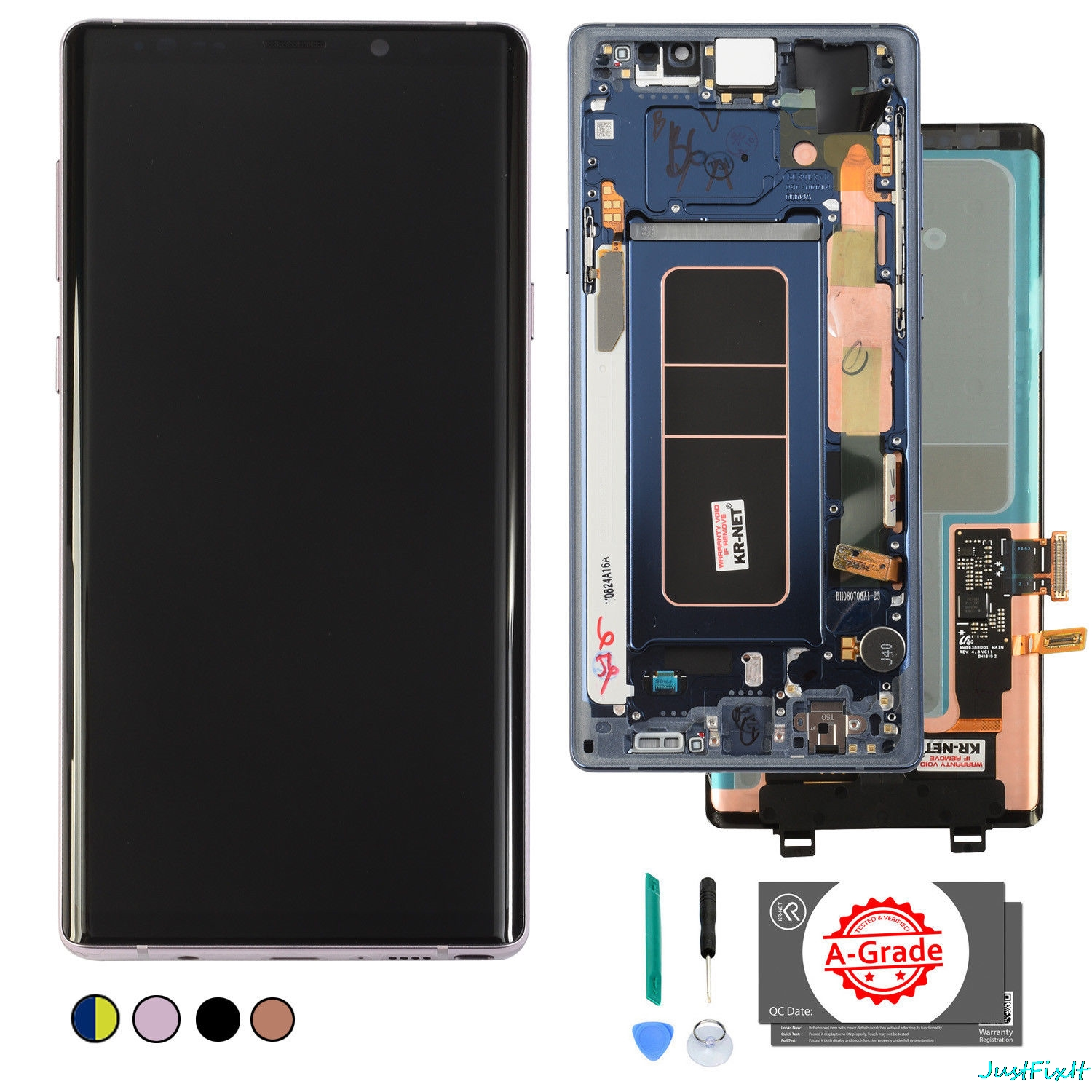 Original For Samsung Galaxy Note 9 Lcd Display Touch Screen Digitizer Assembly N960 N960F N960D N960DS