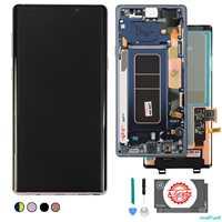 Original Für Samsung Galaxy Note 9 Lcd Display Touchscreen Digitizer Montage N960 N960F N960D N960DS lcd mit Rahmen