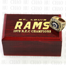 Year 1979 Los Angeles Rams National Football Championship Ring 10-13Size Fans Gift With High Quality Wooden Box