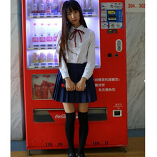White Long Sleeve Shirt+Skirt School Students Uniform College Preppy School Girl Uniform OY-G1017