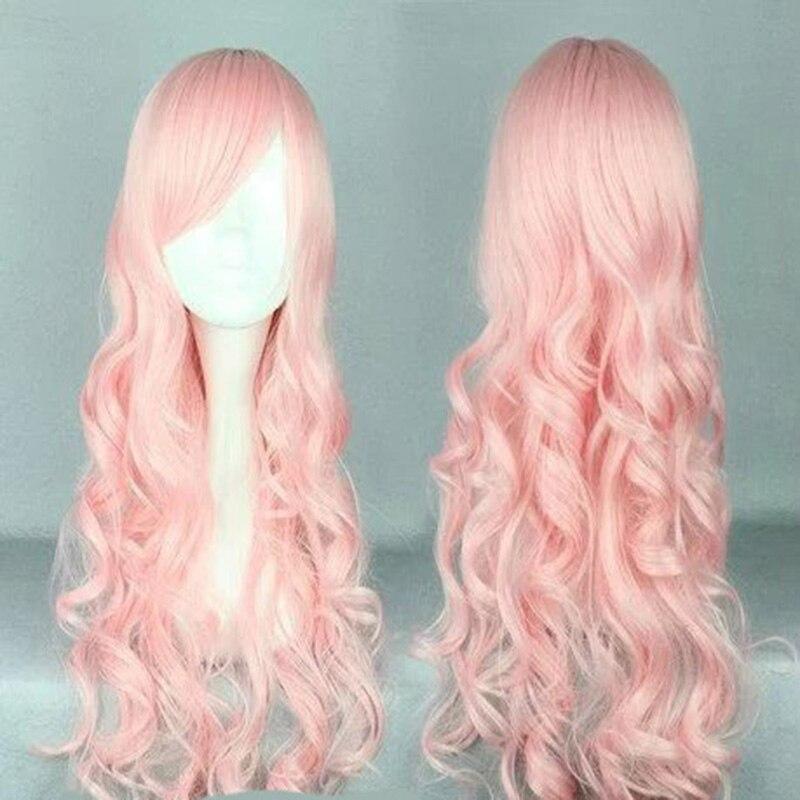 HAIRJOY Synthetic Hair Zipper 70cm Long Wavy Harajuku Lolita Cosplay Wig 18 Colors Available 99