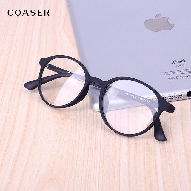 321757fbf4f COASER Vintage Round Women Men Glasses Frame TR90 Lighter Reading Prescription  Optical Eyeglasses Computer Eyewear clear lens