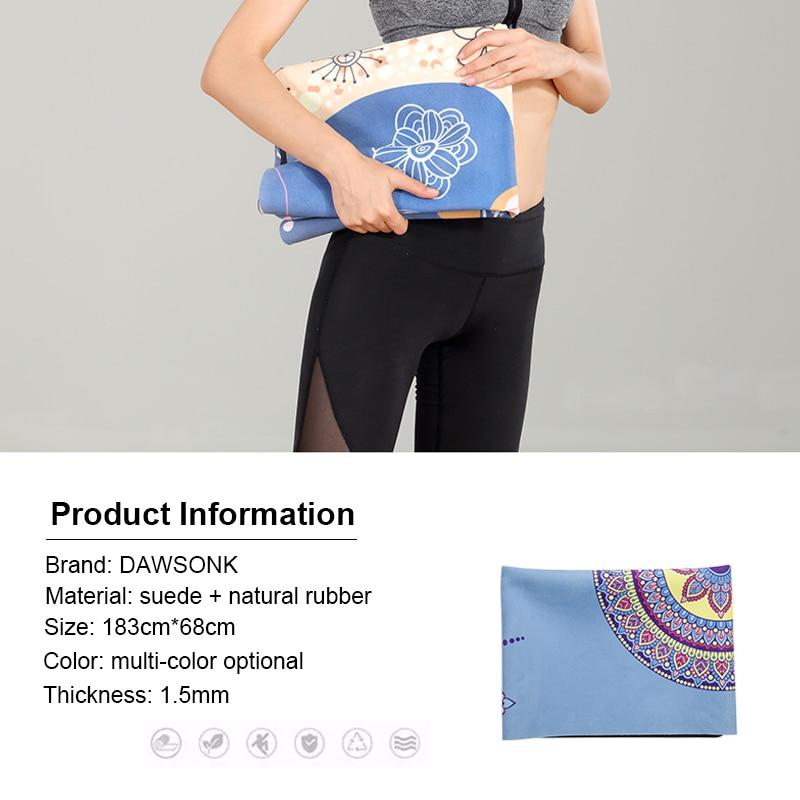 Portable  Yoga Mat Printing Ultra-thin Folding Non-slip Cloth Sweat-absorbent Towel Travel  Pilates  Pad 7