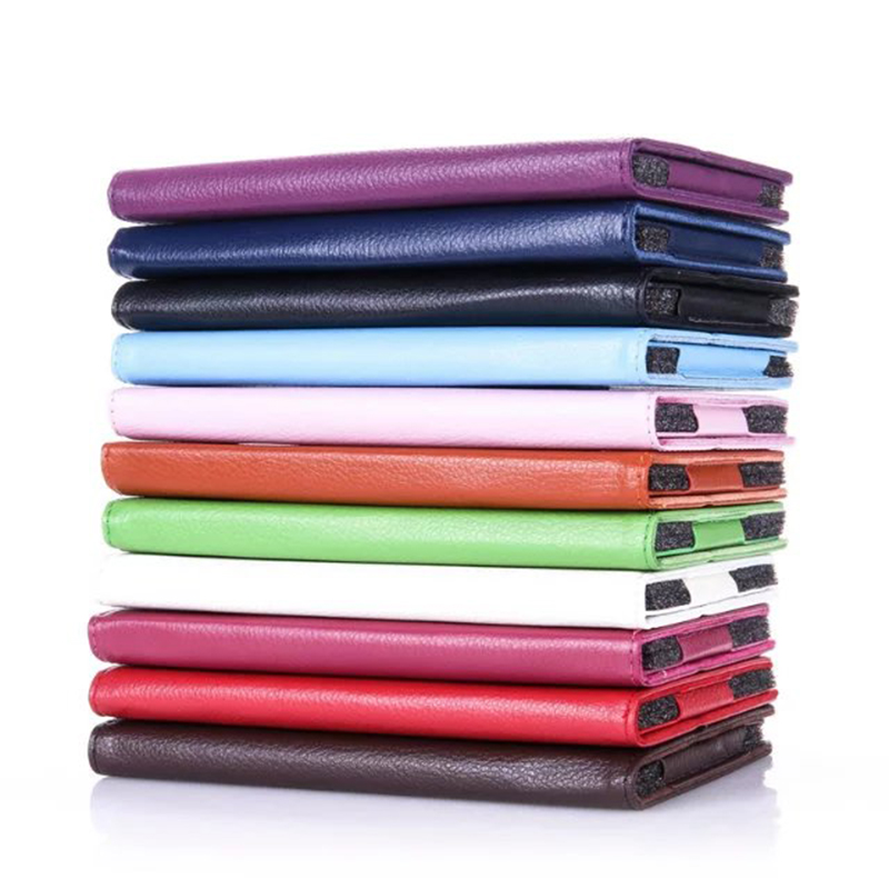 2-Folder Litchi Grain PU Protective Leather Cases Cover For Lenovo Tab 3 7.0 710 710L Essential Tab3 710F Tablet