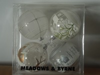 Free Shipping 4pcs Pack Xmas Ball Tree Decoration New Year Decoration Or Gift Wedding Or Other