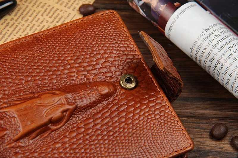 Cocodrilo cartera pliegues monedero carteras hombre cuero monedero Alligator Hasp bolsillo de la manera bolsas pequeñas 2018