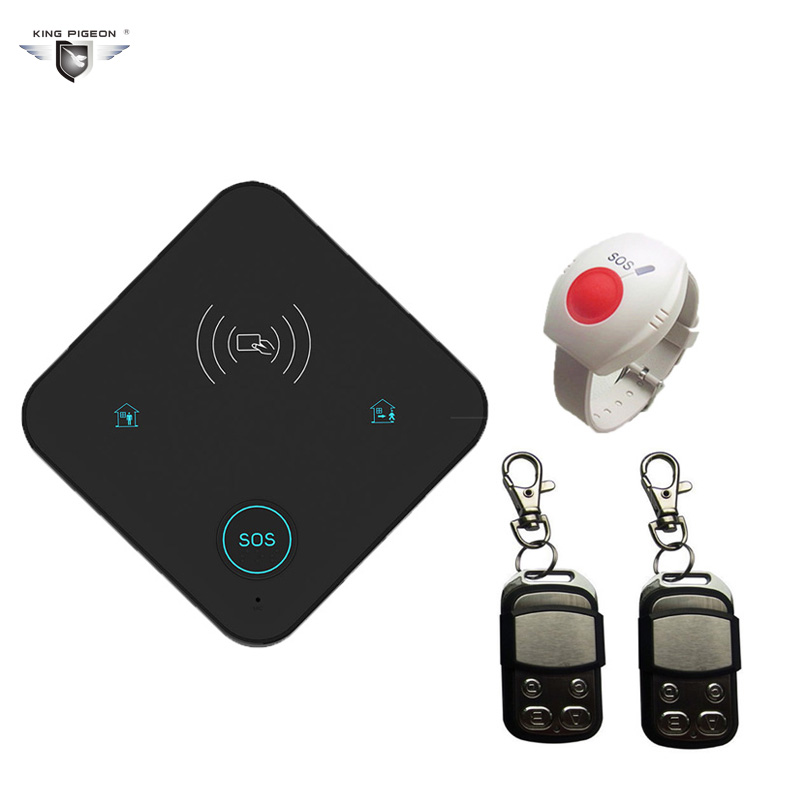 King Pigeon Home Security WIFI Alarm Burglar Alarm System GPRS SMS House Elderly Panel Emergency Button Can work with Camera K10