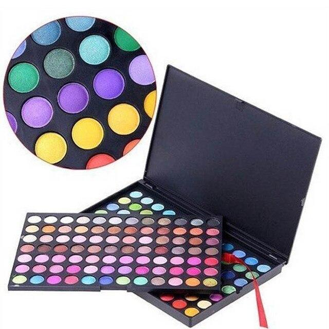 168 a todo Color del maquillaje de sombra de ojos paleta camuflaje profesional sombra de ojos en polvo 2 set/lot