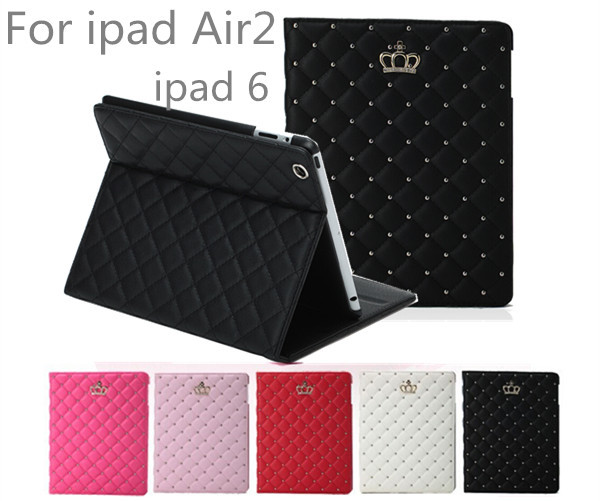Beautiful Cover For Ipad Air 2/Ipad 6 PU Case Cover for Ipad With Stand Fashional High Quality  Case belkin shield swing case cover for ipad air