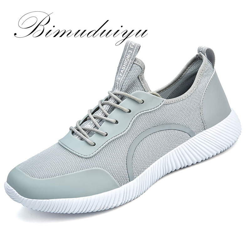 BIMUDUIYU Brand Summer Breathable Mesh Lovers Casual Shoes Unisex Fashion Lightweight Flat Men Sneakers Shoes Size EUR:38-48