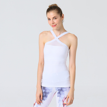 2019 Summer Sexy Women Yoga Shirts Tank Top Gym Sports Running Athletic Active Stretch Workout Vest Quick Drying Clothes active quick drying elastic band vest with holes details