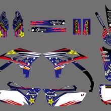 H2CNC Новинка; модный стиль команда графика наклейки для Yamaha YZ250F YZF250 2010 2011 2012 2013 YZ 250F YZF 250